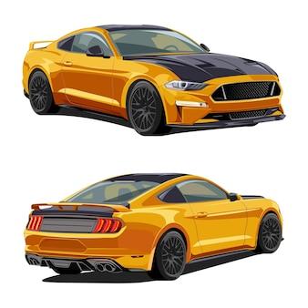 Klasyczny szybki samochód w kolorze muscle car