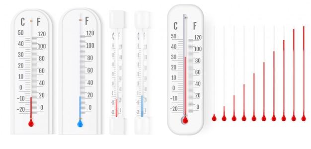 Klasyczny termometr zewnętrzny i wewnętrzny