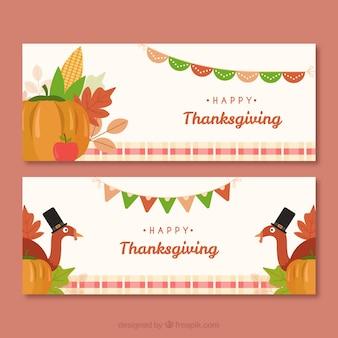 Klasyczny zestaw banerów dziękczynienia