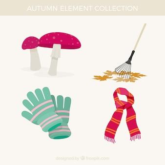 Klasyczny zestaw jesiennych elementów