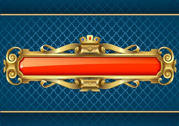 Klasyczny złoty sztandar