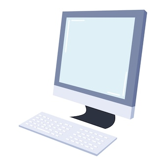 Klawiatura monitora komputerowego