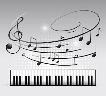 Klawiatura muzyczna i uwaga