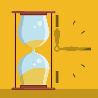 Klepsydra i wskazówki zegara