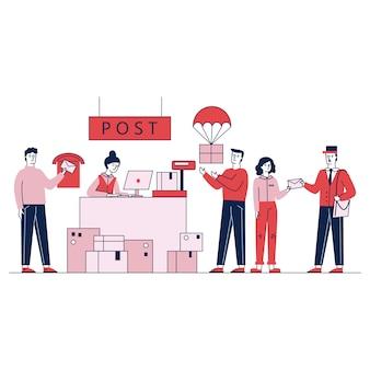 Klienci odbierający i wysyłający paczki