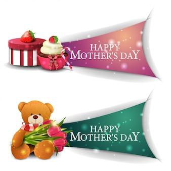 Klikalny baner powitalny na dzień matki na stronie internetowej