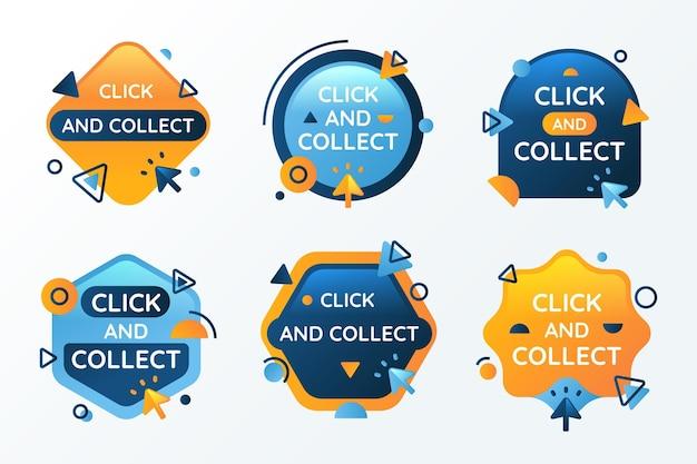 Kliknij i odbierz kolekcję przycisków