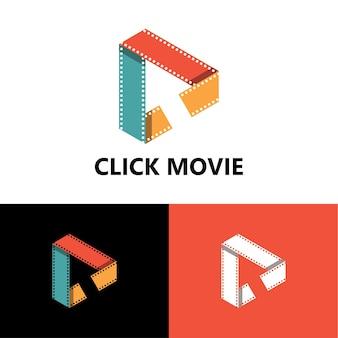 Kliknij szablon logo filmu