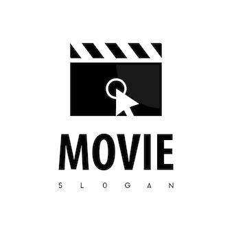 Kliknij wektor logo filmu