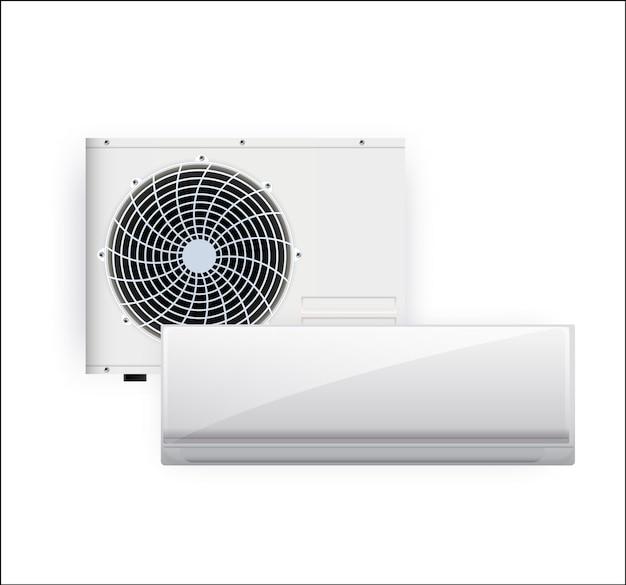 Klimatyzator ilustracja na białym tle