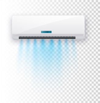 Klimatyzator na białym tle wektor ilustracja wektor prądy powietrza