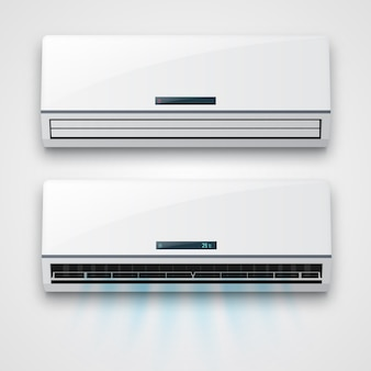 Klimatyzator z izolowanym przepływem świeżego powietrza.