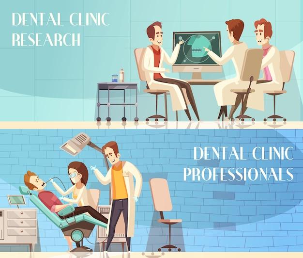 Kliniki stomatologicznej poziome bannery