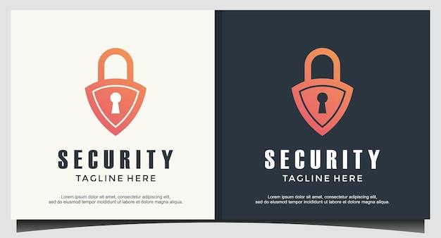 Kłódka chroni wektor projektowania logo bezpieczeństwa