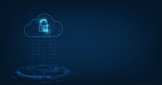 Kłódka z dziurką od klucza w ochronie danych osobowych ilustruje pomysł na prywatność danych cyfrowych lub informacji. streszczenie cześć prędkości internetu na tle technologii.