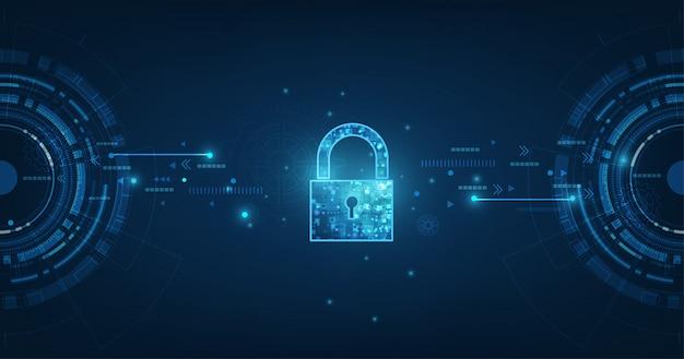 Kłódka z ikoną dziurki od klucza w ochronie danych osobowych ilustruje ideę prywatności danych cybernetycznych lub informacji