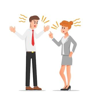 Kłótnie między kolegami w pracy ilustracja