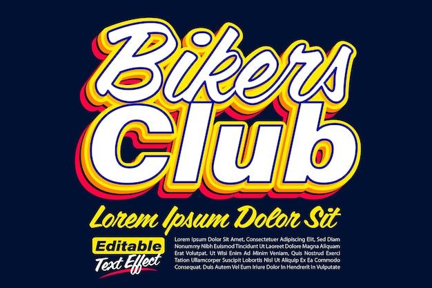 Klub motocyklistów pogrubiony efekt pop tekstu