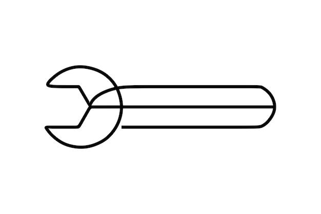 Klucze narzędziowe oneline ciągła grafika liniowa