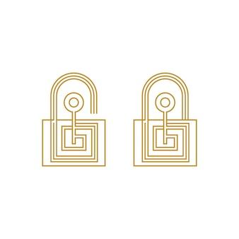 Kluczowa Ikona Wektor Ilustracja Szablon Projektu Premium Wektorów