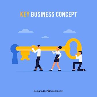 Kluczowa koncepcja biznesowa z płaska konstrukcja