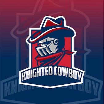 Knight cowboy maskotka logo esport