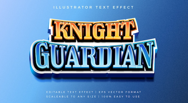Knight gaming 3d text style font effect