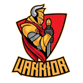Knight warrior esport logo na białym tle