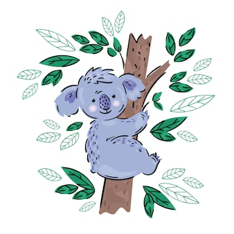 Koala australijski niedźwiedź z kreskówek