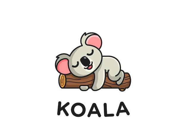 Koala spanie na oddział maskotka