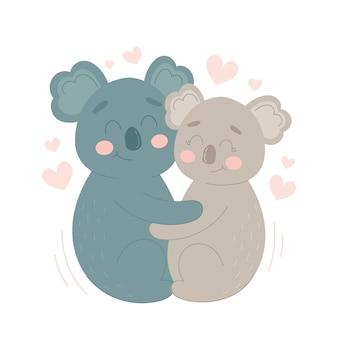 Koala walentynki para zwierząt
