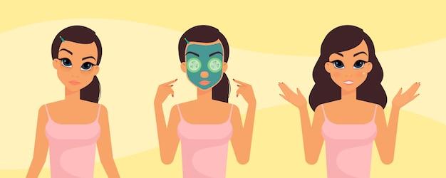 Kobieca rutyna do pielęgnacji skóry