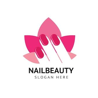 Kobiece logo urody paznokci