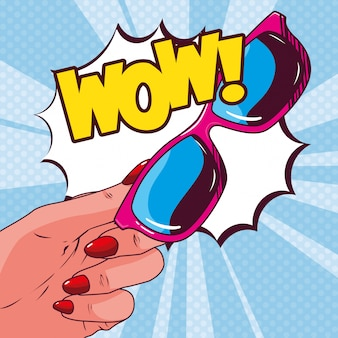 Kobiece okulary przeciwsłoneczne w stylu pop-art