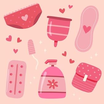 Kobiece różowe produkty higieniczne