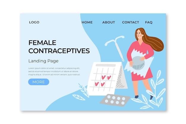 Kobiece środki antykoncepcyjne - strona docelowa