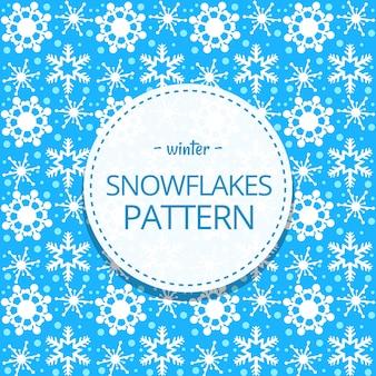 Kobiecy doodle ładny śnieg płatek zimowy wzór