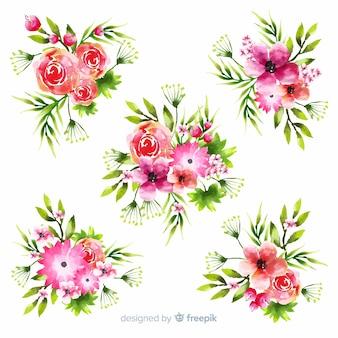 Kobiecy piękny bukiet z kwiatów i liści
