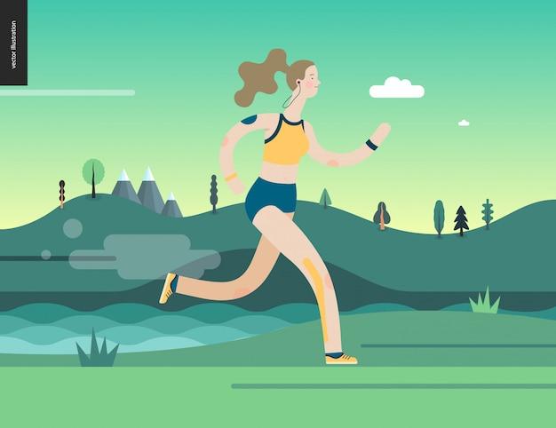 Kobieta biegacz