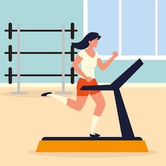 Kobieta biegająca na bieżni