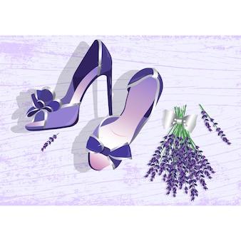 Kobieta buty wzór tła
