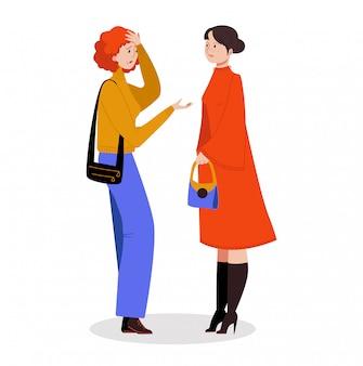 Kobieta charakter narzeka złego stan zdrowia, żeńską wirusową chorobę i chorej wysokiej temperatury na białym, ilustracja.