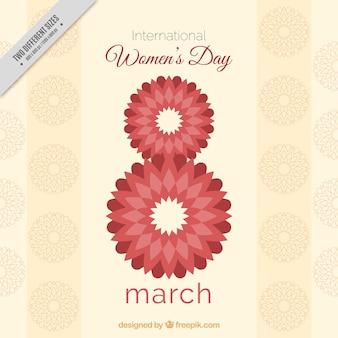 Kobieta dni abstrakcyjne osiem marca tle