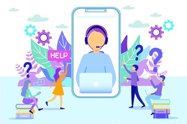 Kobieta doradztwo ludzie rozmowa telefoniczna helpdesk