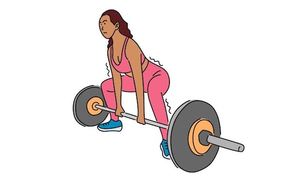 Kobieta fitness, koncepcja sportu