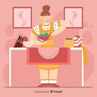 Kobieta gotowania