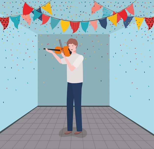 Kobieta gra skrzypce charakter instrumentu