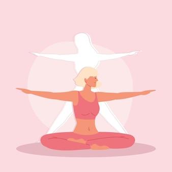 Kobieta jogi robi ćwiczenia