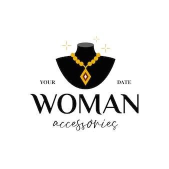 Kobieta klejnoty i logo akcesoria