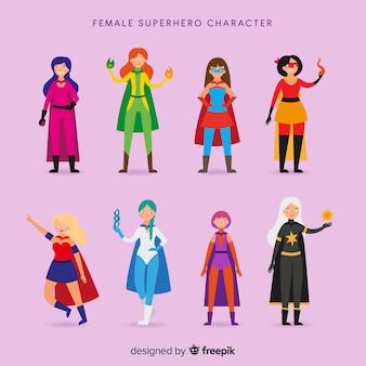 Kobieta kolekcjoner superbohatera